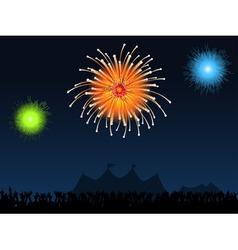 festival fireworks vector image vector image