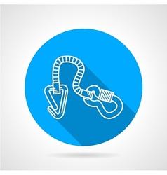 Flat color icon for climbing gear vector