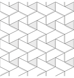 Geometric seamless pattern and background linear vector image vector image