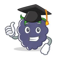 Graduation blackberry character cartoon style vector