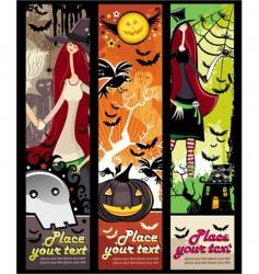 halloween grunge banners vector image vector image