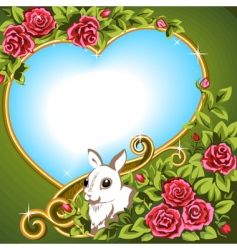 heart rose vector image vector image