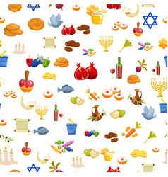 Jewish holiday hanukkah seamless background vector