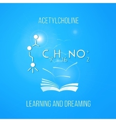Learning and dreaming concept acetylcholine vector