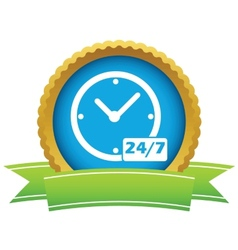 New gold clock logo vector