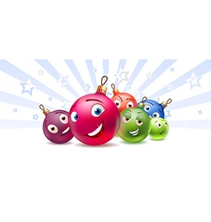 New Years balls Cartoon characters vector image