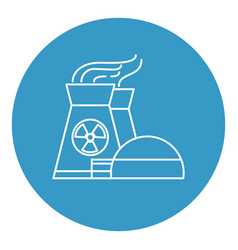 nuclear power plant icon in thin line style vector image vector image
