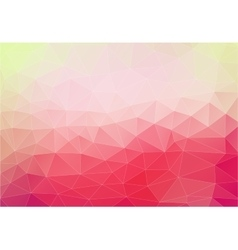 Pink background with triangles shapes vector image vector image