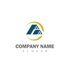 Roof company logo vector