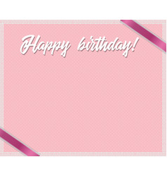 Rose and polka dots birthday framework with happy vector