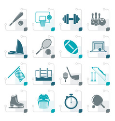 Stylized sport objects icons vector