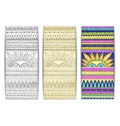 Tribal texture cards vector