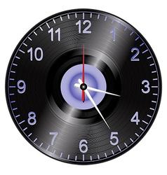 Vinyl record clock vector image vector image