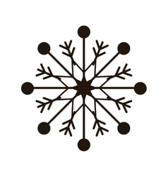 Snowflake xmas winter vector