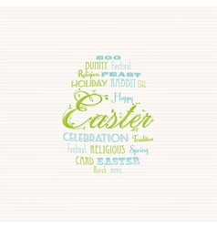 Easter typography background vector