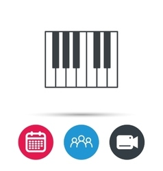 Piano icon royal musical instrument sign vector