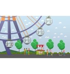 Amusement park concept vector