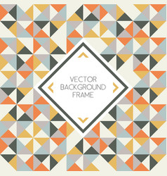 Background of geometric triangle shapes pattern vector