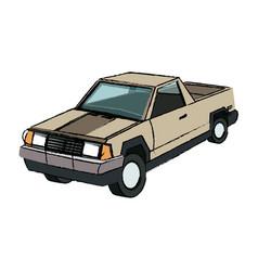 Pickup truck vehicle transport 4x4 design vector