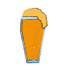 Glass of beer icon image vector