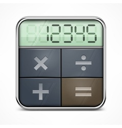 Pocket calculator on white vector