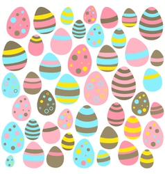 Yellow blue and pink easter eggs seamless texture vector