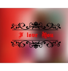I love you header vector