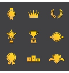 Modern flat design awards vector