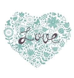 Beautiful romantic card vector