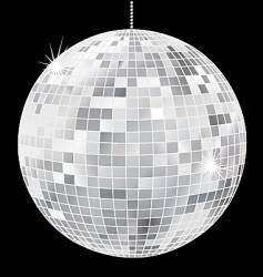 simple disco ball vector image