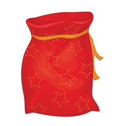Xmas red bag vector