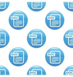 Doc file sign pattern vector