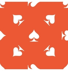 Orange spades pattern vector
