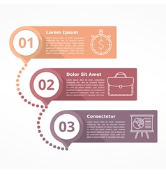 Three steps diagram vector