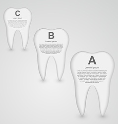 Tooth infographic design template vector