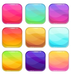 Rounded square app icons template set vector image