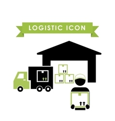 Logistic and garage icon design vector