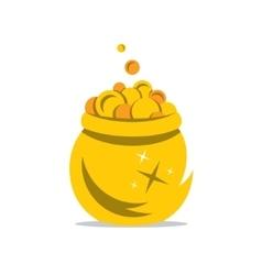 A Gold Pot of Money Cartoon vector image