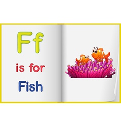 A picture of a fish in a book vector image vector image