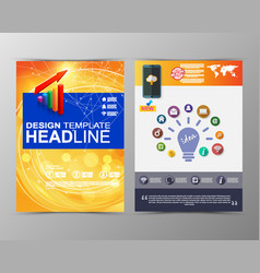 abstract geometric brochure template map vector image vector image