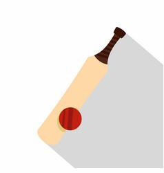 baseball icon flat style vector image