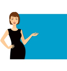 beautiful woman gesturing vector image vector image