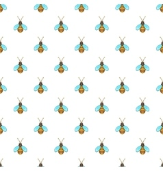 Bee pattern cartoon style vector image vector image