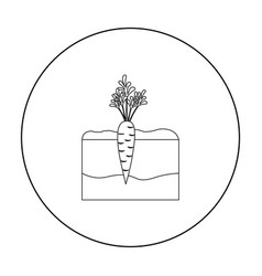 carrot icon outline single plant icon from the vector image
