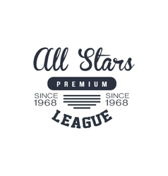 Classic sports league label vector