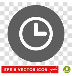Clock Round Eps Icon vector image