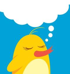 cute bird with bubble speech vector image