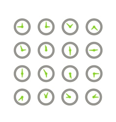 Different status of clocks collection vector image vector image