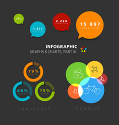 Flat design infographic elements vector