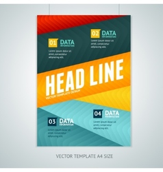 Geometric lines brochure flyer design vector